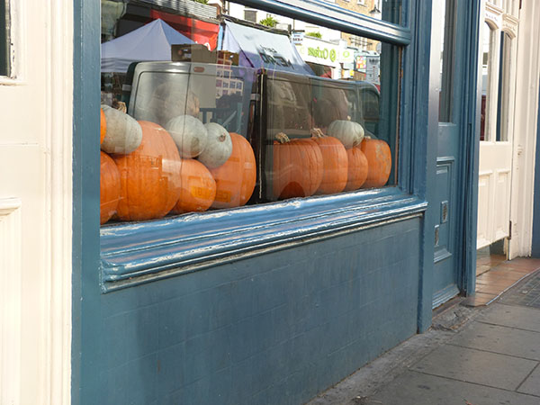 pumpkins in Notting Hill