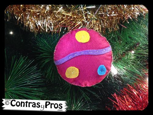 Bolas de fieltro para el arbol DIY de navidad