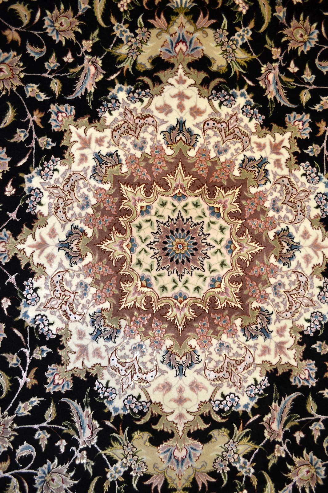 Taghizadeh black Persian Rug 7x10 Tabriz (5)