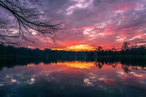 park sunset lake reflection sony romania bucharest tineretului 1650mm a6000