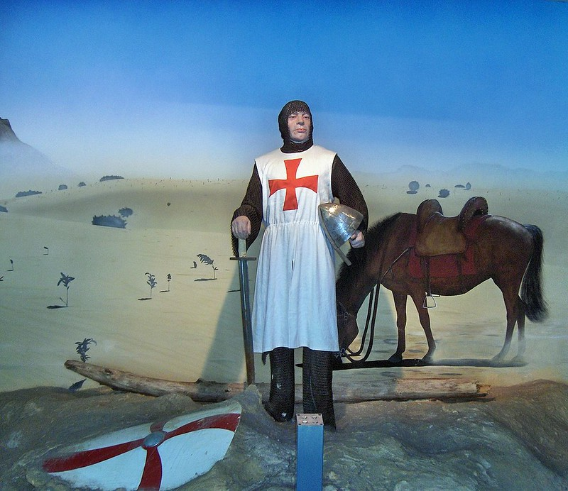 Representation of a Templar in Duinenabdij, Belgium