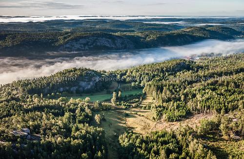 sverige swe västragötaland flygfoto bullaren stranderäng änghagen