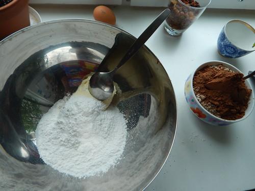 масло и сах.пудра и соль