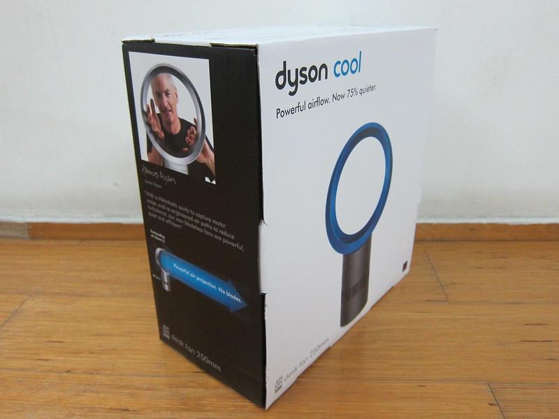 Dyson AM06 Desk Fan 25cm (Iron & Blue) - Box Left
