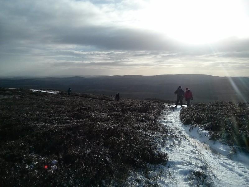 Ascending Pitfichie Hill