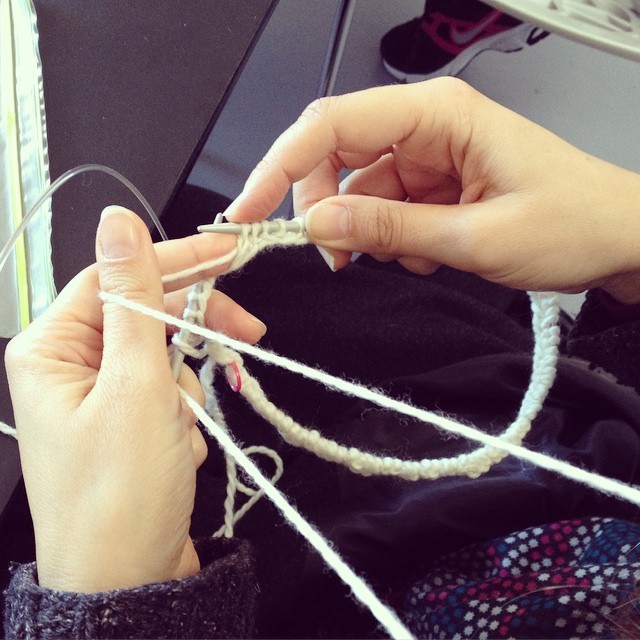Yesterday we had a #knitting workshop in the studio.