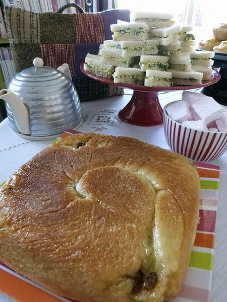 lardy cake sur la table