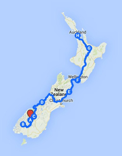 NZ trajeto