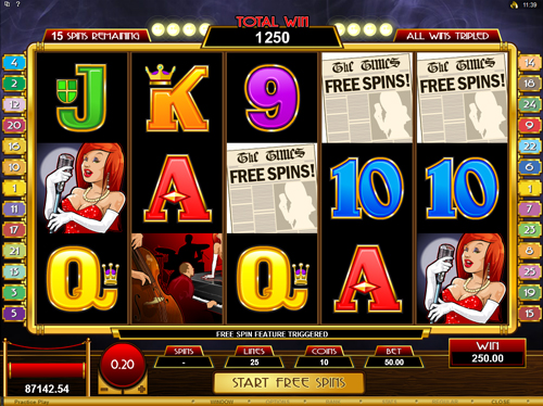 Lady In Red Free Spins Feature