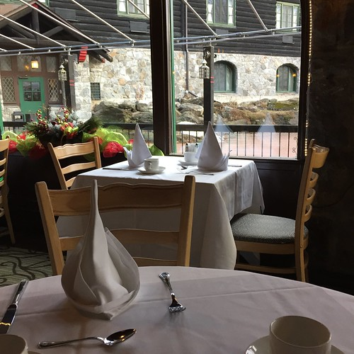 View at breakfast, Chateau Montebello