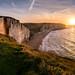 View from La Pointe de la Courtine, Etretat cliffs by Julie. D