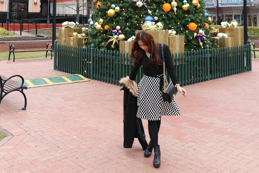 Christmas Outfit, DVF, Diane von Furstenberg wrap dress, fashion, style, styleanthropy