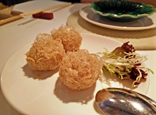 Taro Puffs with Roasted Duck and Goose Liver