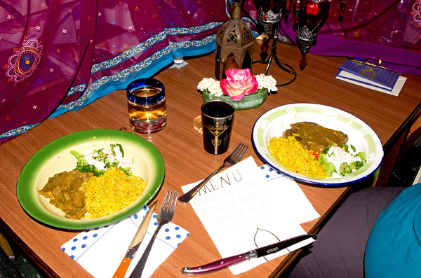 Moroccan Night - served plates 6 2 15 K55030