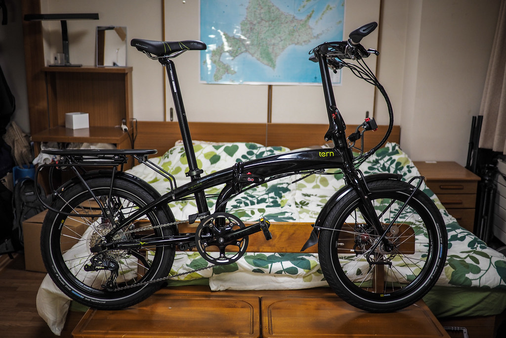2015 Tern Verge S27h folding touring bicycle