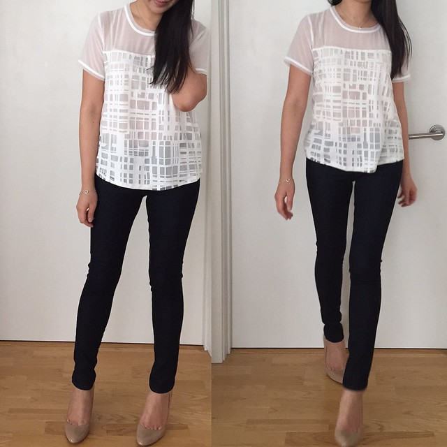 Forever 21 Abstract Grid-Patterned Top, size XS