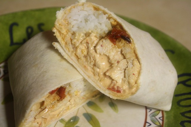 Southwest Fajita Chicken Wraps with Chipotle Aioli
