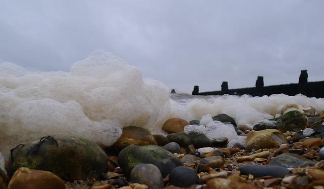 stones and foam