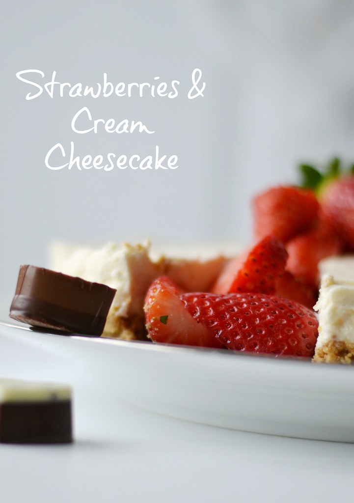 Lola Kate : Lindt Strawberries and Cream Cheesecake