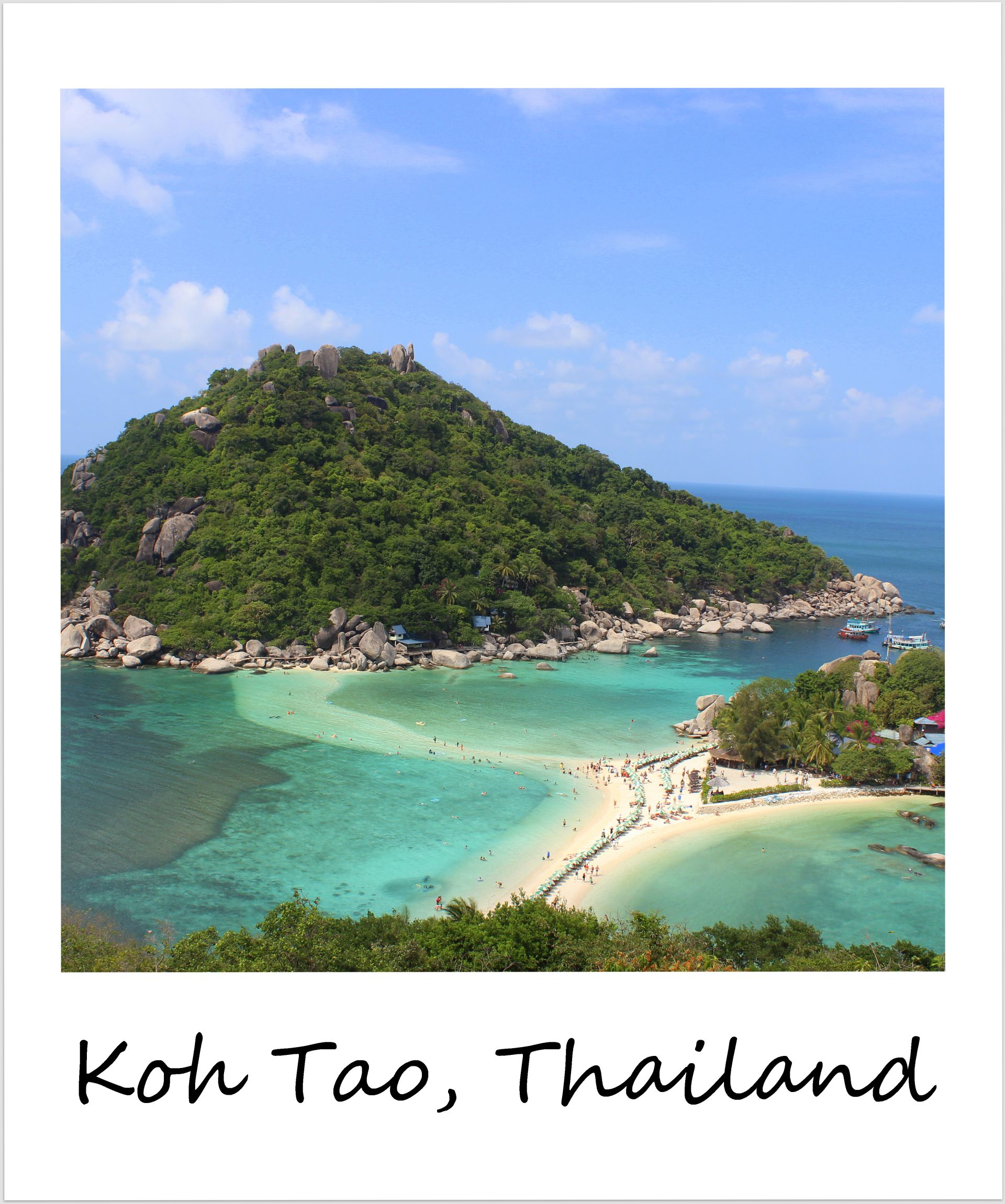 polaroid of the week thailand koh tao