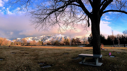 trees mountains cemetery clouds landscapes utah ut saltlake 4s iphone