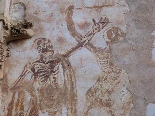 Esqueletos de Rocamadour (Francia)