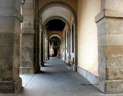 The Long Corridor. Plaza Mayor Avila, Spain