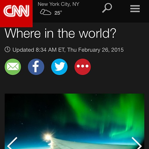 Wow I'm on front page of cnn.com today! Check it out cnn.com under travel photo of the day ! #media #fun #christyturnerphotography #yycphotographers #Aurora #aurorachasers #auroraborealis