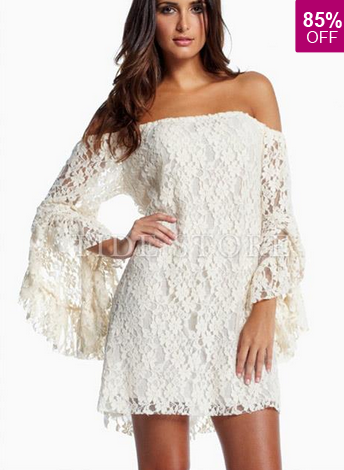 http://www.tidestore.com/product/Cream-Lace-Off-The-Shoulder-Mini-Dress-10892063.html