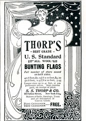 Thorp's U.S. Standard All Wool Bunting Flags 1896