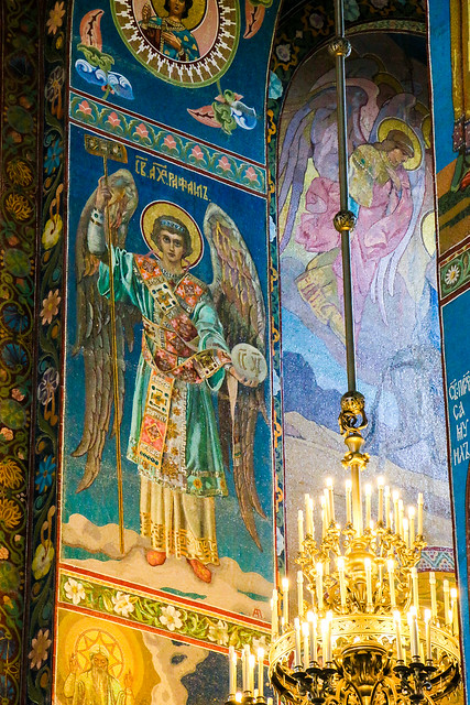 Archangel Raphael in Church of the Savior on Blood, Saint Petersburg, Russia サンクトペテルブルク、血の上の救世主教会の大天使ラファエル