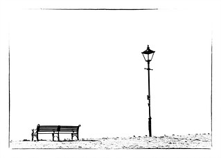 A Streetlamp and a Bench