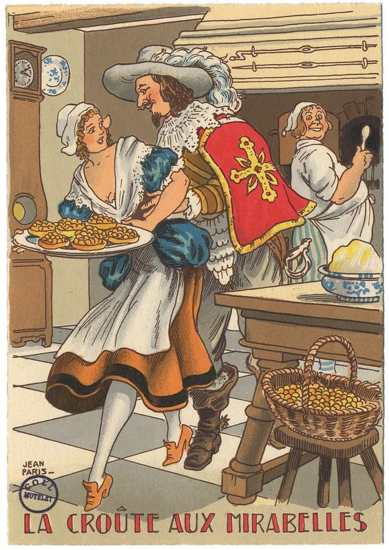 La croûte aux mirabelles - carte postale par Jean Paris 1946 [FIC_GAS_IN 4 391]