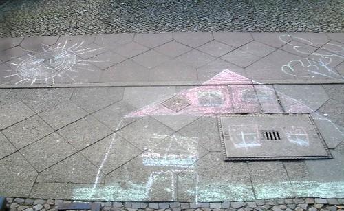Kinderkunst - Haus und Sonne