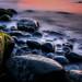 Boulders at Sunset by Les Ellingham