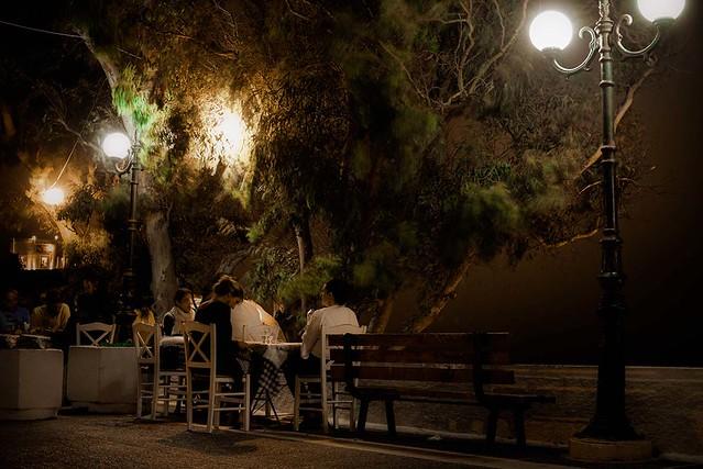 Noite em Santorini