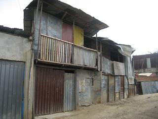 Aspecto de viviendas del barrio