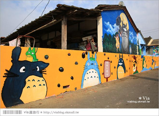 【嘉義龍貓村】南崙彩繪村~全台第一座以龍貓為主題的彩繪村!14