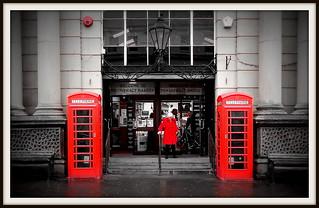 Red Phone Boxes Pontefract Market