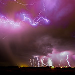 July 31, 2012 - Kearney Nebraska US  17 Stacked Images from that night of Storms!