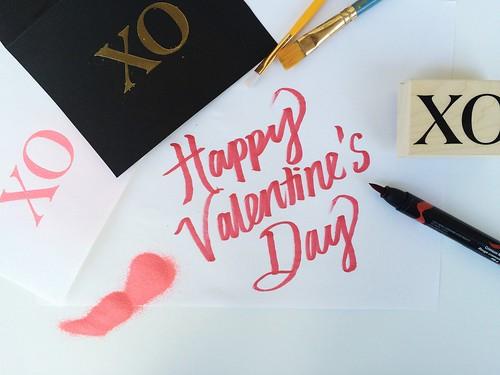 valentine's day cards in progress