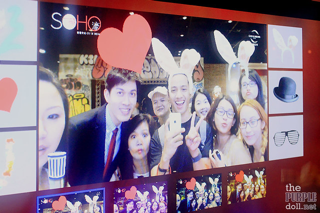 Groupfie at the photobooth in SOHO City of Dreams Macau