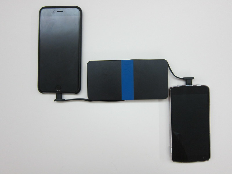 TYLT Energi 5k+ Battery Pack - Charging iPhone 6 Plus & Nexus 5 Together