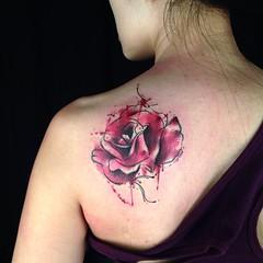 Tattoo Today Everyday Rose Watercolor Watercolortatt Flickr