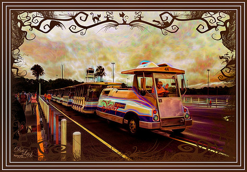 Image of Disney Parking Lot Tram