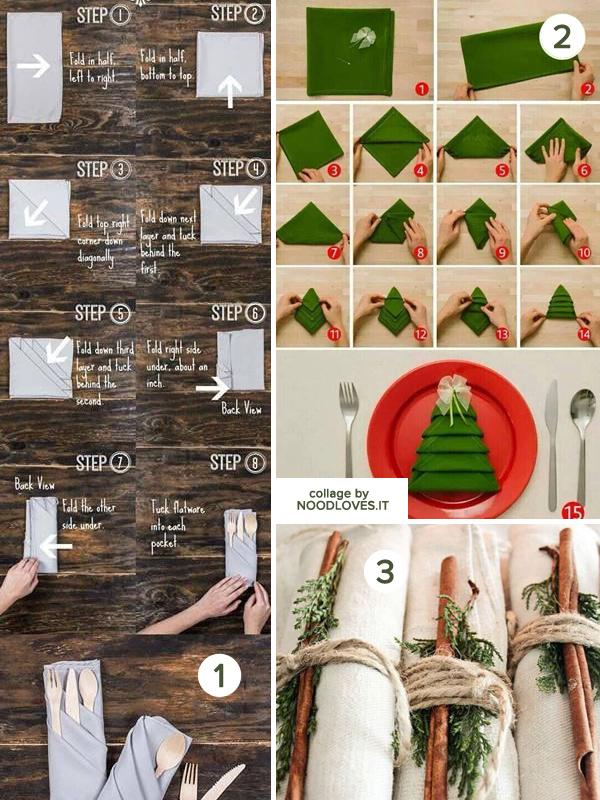 La tavola di natale le decorazioni e il bon ton noodloves - Decorazioni con fazzoletti di carta ...