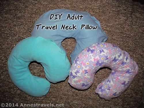 DIY Adult Neck Pillow