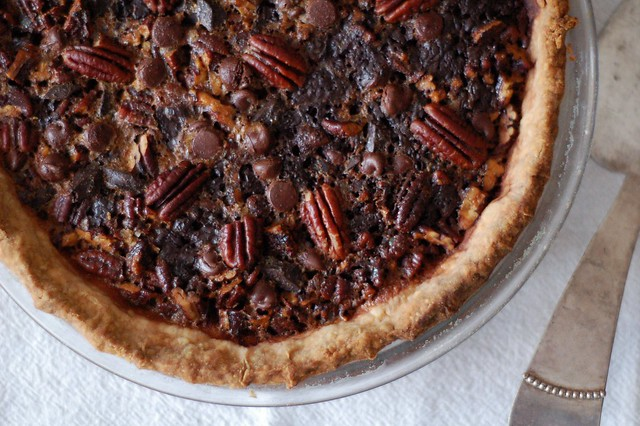 Maple Chocolate Pecan Pie by Eve Fox, The Garden of Eating, copyright 2014