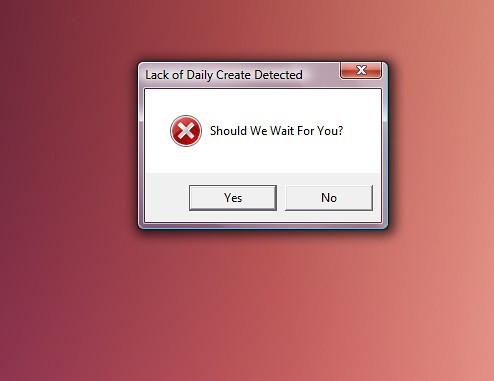 Daily Create Error Message