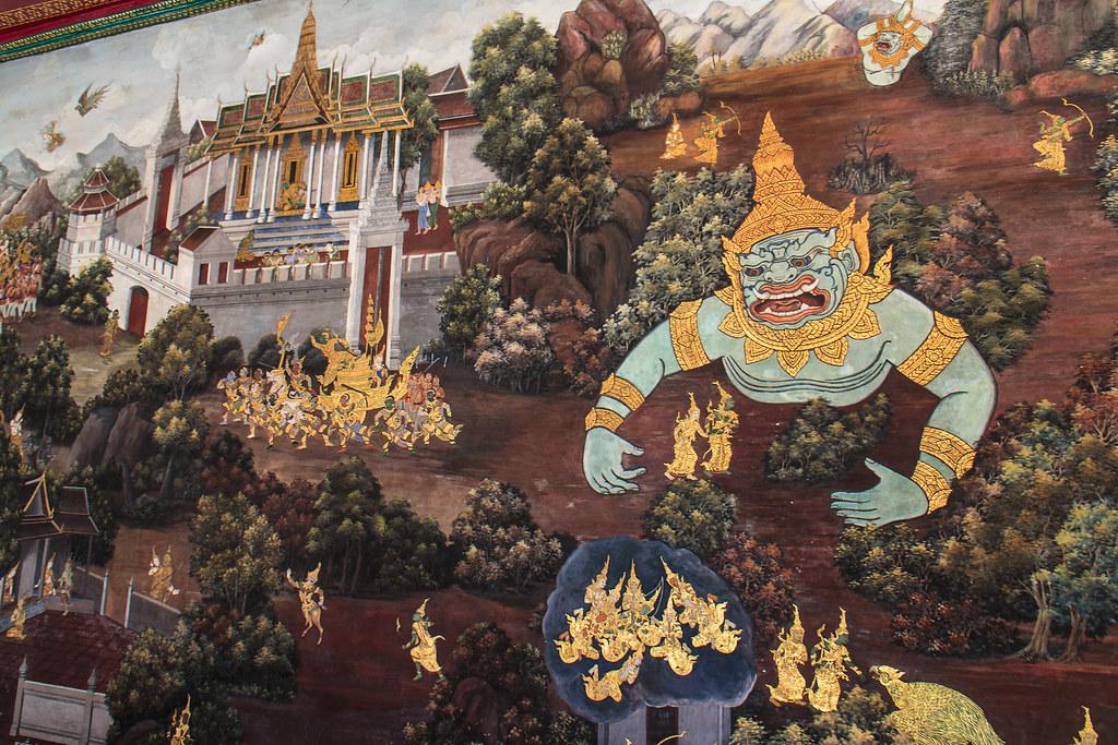 ציורים מיתולוגיים בארמון המלך בבנגקוק
